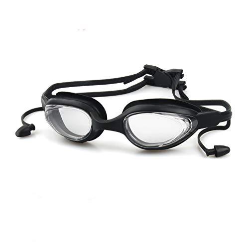 Gafas HD Gafas de natación antivaho a Prueba de Agua Tapones para los oídos de una Pieza Gafas para Hombres y Mujeres Gafas para Adultos