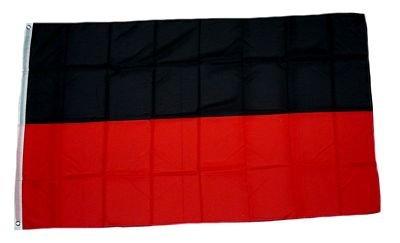 Fahne / Flagge Schwarz / Rot NEU 90 x 150 cm