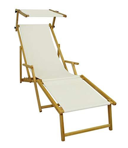 ALL-JingHong Sonnenliege verstellbar Klappbare Wellnessliege erhältlich Weiß JH-641