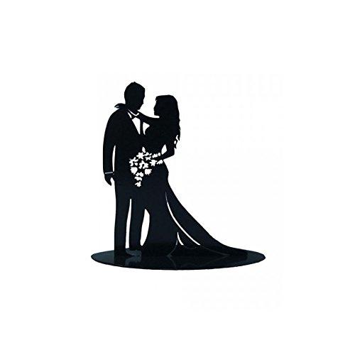 FIGURA PASTEL METÁLICA ENAMORADOS Pareja de novios con bonitos acabados para poner sobre el pastel de bodas. Medidas: Medidas: 18 x 7 x 18cm Figura Pastel Metálica Enamorados Medidas: 18 x 7 x 18 cm Visita nuestro escaparate MirVen Group en Amazón pa...