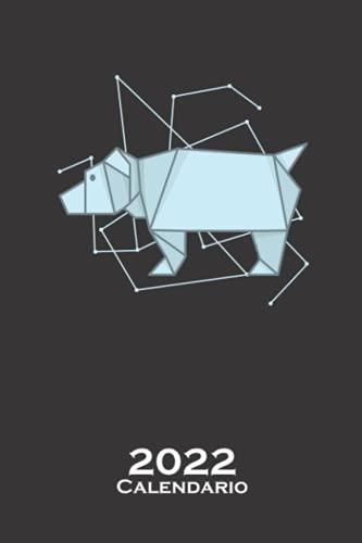 Perro u oso de origami en forma de papel Calendario 2022: Calendario anual para Aficionados al plegado de papel japonés