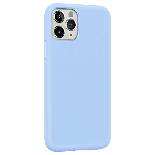 Danbey Silicone Case for Apple iPhone 11 Pro Max, 6.5-inch Display, Liquid Silicone, Matte Surface, Skin Feeling, Charming Solid Color - Light Blue