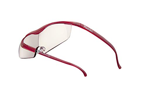 Hazuki ハズキルーペ 直営店 公式店 限定 倍率交換保証付き ラージ 1.6倍 カラーレンズ ルビー ハズキ 拡大鏡 ルーペ メガネ型 眼鏡型 めがね型 メガネ 眼鏡 めがね 日本製 MADE IN JAPAN ギフト
