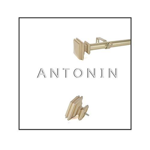 Maison Desyne Antonin 25 mm Barra de cortina (dorada, 122 - 213 cm)