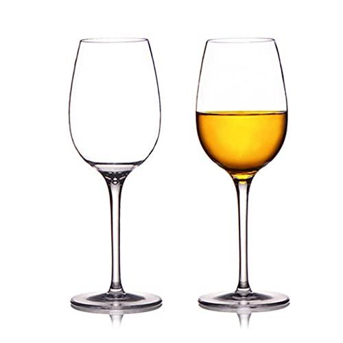 RichAmazon 12 onzas de materiales acrílicos Copa de vino de plástico transparente rojo jugo taza 200 x 65 mm