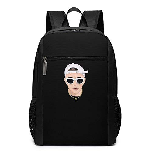 Mochila de Viaje de Mochila Escolar, Bad X Bunny Backpacks Travel School Large Bags Shoulder Laptop Bag For Men Women Kids