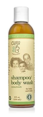 CARA B Naturally Baby Shampoo and Body Wash for Textured, Curly Hair - Eczema-Friendly Formula – No Parabens, Sulfates, Phthalates - 8 Ounces