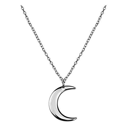 SOFIA MILANI - Collar para Mujeres en Plata de Ley 925 - Colgante de Luna - 50241