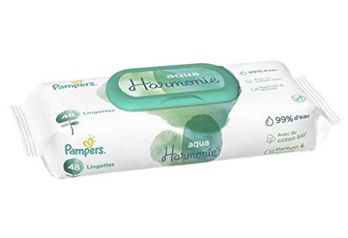 Pampers Harmonie Wipes Aqua Harmony Baby-mega Pack x48 (Set von 9 432 tücher)