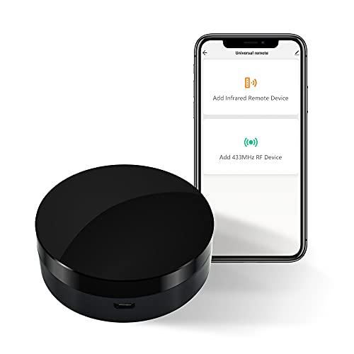 IR/RF Smart Home Hub Universal-Fernbedienung, WiFi IR/RF Blaster, für Hausautomation, TV, Vorhang, Jalousien Fernbedienung, Smart AC Controller, funktioniert mit Alexa/Google Home/IFTTT (WiFi IR RF)