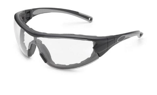 Gateway Safety 21GB79 Swap Wraparound Hybrid Eye Safety Glasses/Goggles, Clear Anti-Fog Lens, Black Frame with Foam Edge