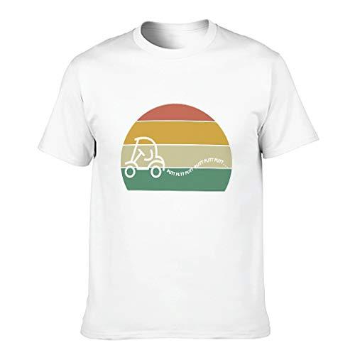 Ouniaodao Herren-T-Shirt Golf Putt Putt Putt Putt Putt Putt Putt T-Shirt aus Baumwolle – personalisierbar Gr. M, weiß