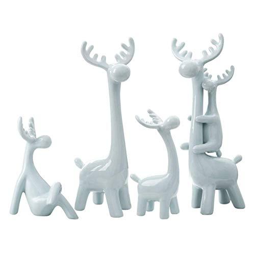 IUYJVR Desktop Sculpture Reindeer House Simple Modern Living Room Wine Cabinet Home Decoration Decoration Creative Decoration Room Decoration (Capacity : 5)