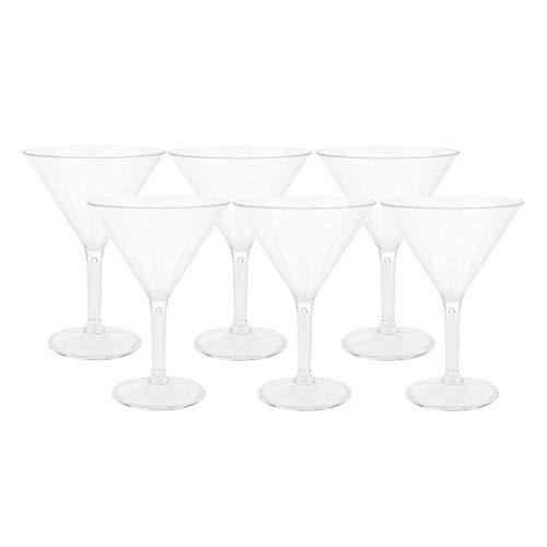 MERIGLARE 6 Piezas Elegante Copa de Cóctel Copa de Martini Vino Claro Taza de Champán
