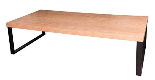 PEGANE Table Basse en Bois et métal Coloris Marron - 31.5x120x60 cm