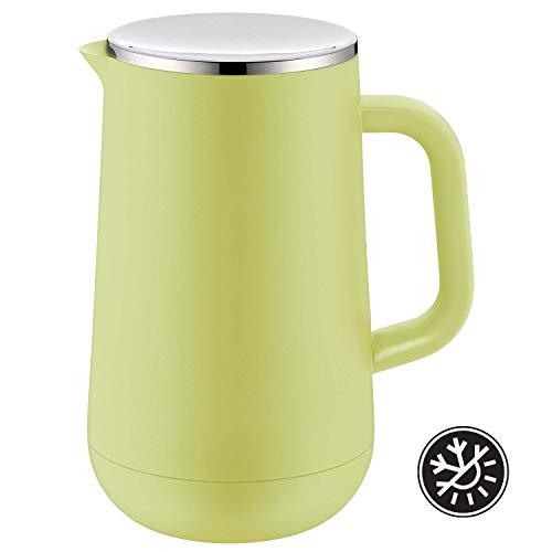 WMF Impulse Thermoskanne 1l, Isolierkanne für Tee oder Kaffee, Drehverschluss, hält Getränke 24h kalt & warm, lime grün