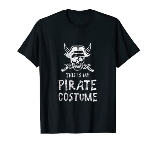 Este es mi disfraz pirata Halloween divertido cumpleaos fresco Camiseta