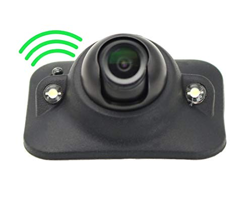 Car HD Blind Spot Side View Camera with Auto-dimming LEDs, NO Guide Line, NO Drilling, Mirror/Non-Mirror Image Adjustable Easy Installation