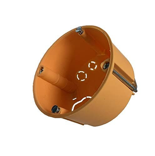 25 Stück Hohlwanddosen Hohlraumdosen orange flach Höhe 45mm