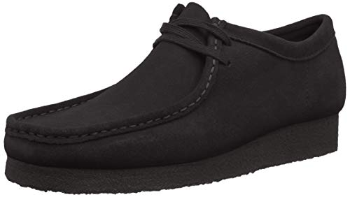 Clarks Originals Herren Wallabee Derbys, Schwarz (Black Suede), 46 EU