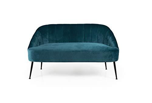 TENZO Loungesofa Phoebe aus samt, Sofa, Couch, 9004009272, Petrol blau, h:75 x b: 130 x t: 75 cm