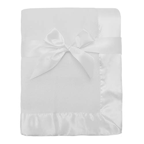 American Baby Company Fleece Blanket 30' X 40' with 2' Satin Trim