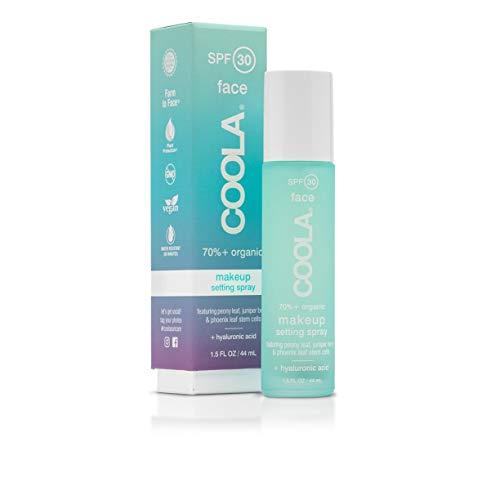 COOLA Organic Makeup Setting Sunscreen Spray, Broad Spectrum SPF 30, 1.5 Fl Oz
