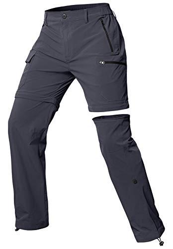 Cycorld Wanderhose Damen Trekkinghose, Atmungsaktiv Zip Off Damen Outdoorhose Abnehmbar Outdoor Hiking Pants mit 5 Tiefe Taschen, für Wandern, Klettern, Reisen und Freizeit (Grau, L)