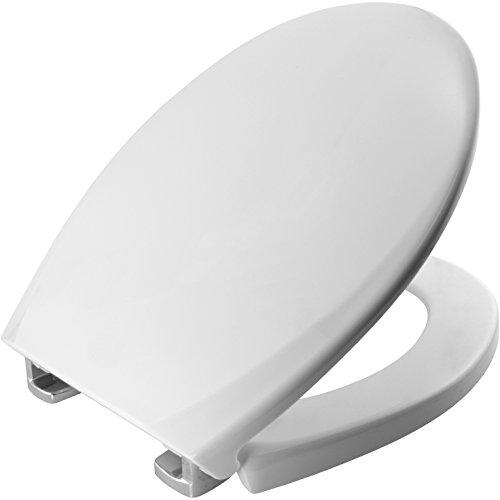 Bemis 3900CPT000 OXFORD Thermoplastik WC-Sitz mit STA-TITE Fixierungssystem, für ein wackelfreies Sitzvergnügen, Weiß
