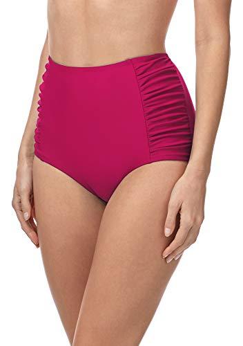 Merry Style Bragas de Bikini Parte de Abajo Bañador Corte Alto Mujer MS10-119 (Magenta (4140), 48)