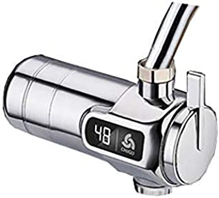 Cxmm Electric Faucet Free Installation Hot Tap Water Heating Fast Hot Kitchen Water Heater Home (Color : B)