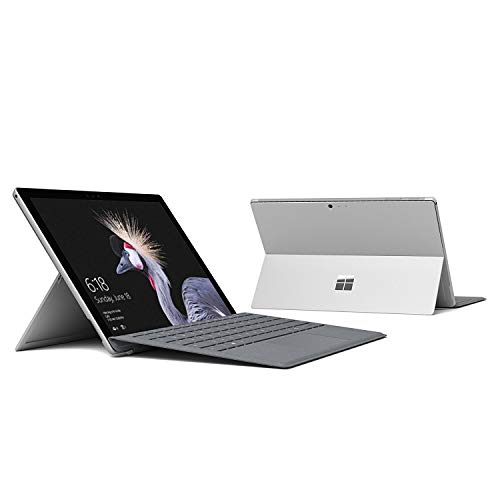 """Microsoft Surface Pro 5th Gen 12.3"""" PixelSense TouchScreen (2736x1824) 2-in-1 Tablet Laptop: Intel Core i5-7200U, 256GB PCIe NVMe SSD, 8GB RAM, Wi-Fi AC MIMO, Windows 10 Pro (with Platinum Type Cover)"""