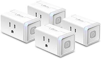 4-Pack TP-Link Kasa Smart WiFi Outlet Plug (HS103P4)
