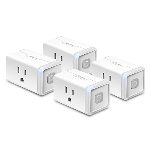 Kasa Smart HS103P4 Plug by TP-Link, Smart Home Wi-Fi Outlet Works with Alexa, Echo, Google Home & IFTTT, No Hub Required, Remote Control, 12 Amp, UL Certified, 4-Pack