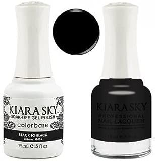Kiara Sky Matching Gel Polish + Nail Lacquer, Black To Black, .5 fl. oz