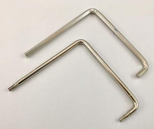 MACO finestra di regolazione chiave Set/TX15e esagono incassato 4mm 2X curvo