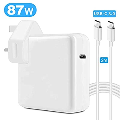 87W USB C Power Adapter Compatible Macbook Pro/Air USB-C Charger, 87W USB-C Power Delivery Laptop Charger with 2M USB C Cable, Compatible Macbook Pro 12'' 13'' 15'' 2016 Late, MacBook Air 2018 Late