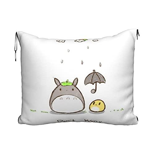 Totoro Reisekissen Decke Kissen Decke Tragbare Reise 2 in 1 Super Weich und Bequem