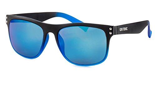 GIN TONIC Eckige Herren Sonnenbrille/Leichte Sonnenbrille mit verspiegelten Gläsern im sportlichen Design F2503118