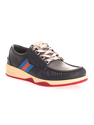 Luxury Fashion | Gucci Heren 575399D60C01072 Zwart Leer Sneakers | Herfst-winter 19