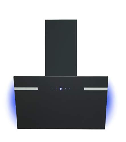 respekta Campana inclinada de diseño, 60 cm, color negro con retroiluminación CH69060SA+, eficiencia energética A+.