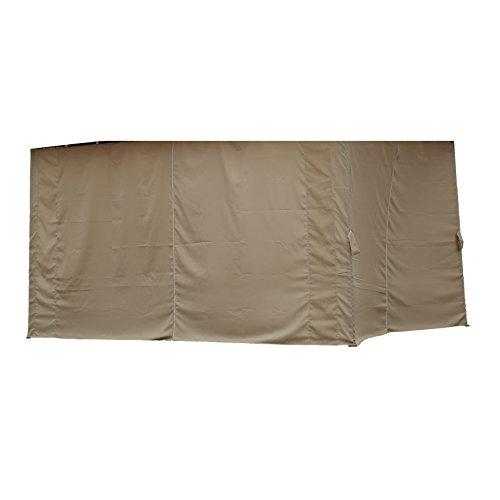 Angel Living Double Top Cornice Canopy Gazebo Side Walls (Set of 4 Cloth Side Walls 3x4M)