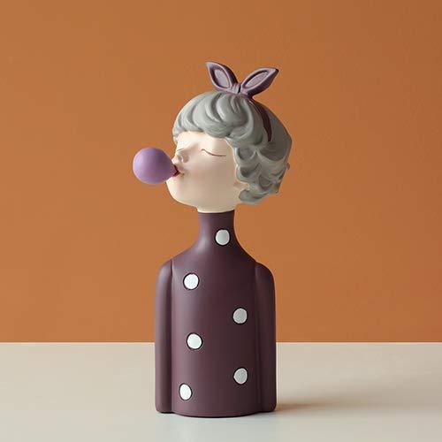 JIAXIN Esculturas Decorativas Moden Girl Resina Arte Estatua Regalo Hada Accessori Estilo...