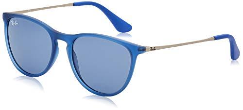 Ray-Ban unisex child Rj9060s Erika Sunglasses, Rubber Transparent Blue/Dark Blue, 50 mm US
