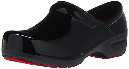 Anywear Women's SRANGEL Health Care Professional Shoe, Black Patent/Black, 7 Medium US