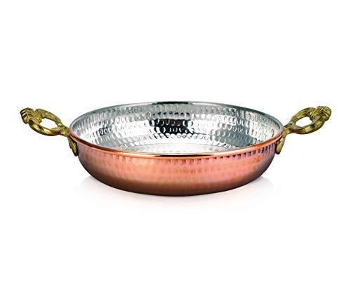 Karaca Mesopotamia Turkische Kupferpfanne 18 Cm, Nonstick, Antike Kupferpfanne zum Braten oder zur Dekoration, Eierpfanne
