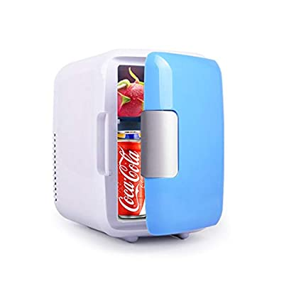 JW Mini Car Refrigerator 4 Litre Can Portable Thermoelectric Cooler and Warmer Vehicle Fridge Skincare Freezer for Road Trip Picnic Camping Home Office Party Gathering 12V DC by Jw