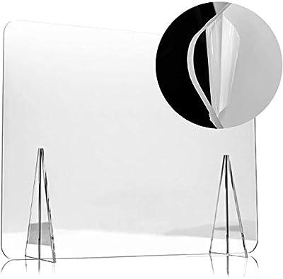 ✔ Mampara de protección transparente EXTRAFUERTE ✔ Fabricada en metacrilato de 4mm de gran resistencia ✔ Medida ventana central: 30 cm. x 15 cm. ✔ Protección para al personal de cara al público ✔ Fácil instalación y limpieza