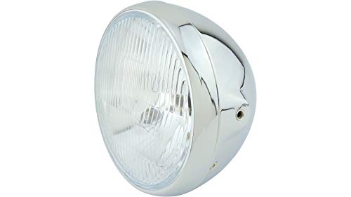 British-Style chromen koplampen 7 inch, H4, E-getest