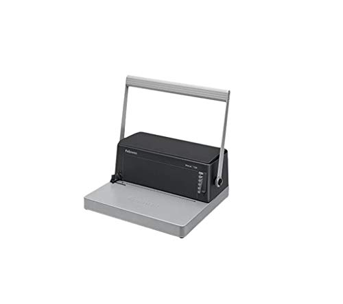 Fellowes Metal 100R- Encuadernadora manual de espiral metálico, con palanca ergonómica en forma de U, Sin rodillo...